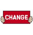 hand held a banner - change vector image
