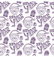 happy new year doodle seamless pattern holiday vector image vector image
