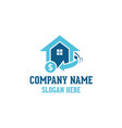 home real estate logo vector image vector image