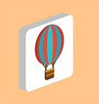 hot air balloon computer symbol for your business vector image