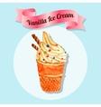 Ice cream water color vector image vector image