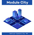 isometric city violet vector image vector image