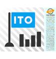 ito bar chart flat icon with bonus vector image vector image
