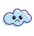 kawaii angry cloud icon vector image vector image