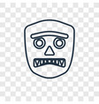 mask concept linear icon isolated on transparent vector image