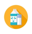 Milk flat icon vector image