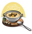 mushroom soup vector image vector image
