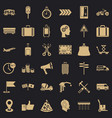 Pay for delivery icons set simple style