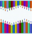 pencils colour on white blank vector image vector image