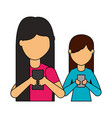 people using mobile vector image vector image