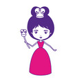 queen with crown and scepter and dress on color vector image vector image