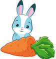 rabbit and carrot vector image vector image