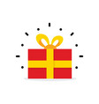 red gift box surprise box simple cartoon vector image