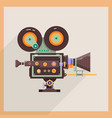retro technology icon camcorder professional vector image