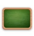 School blackboard in wooden frame vector image