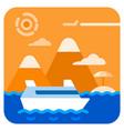 sea travel cruise vector image vector image