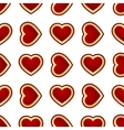seamless background of hearts vector image vector image