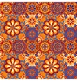 Seamless pattern on the tiles majolica arabic vector image vector image