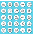 Set of line icon sport fitness vector image