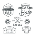 set vintage classic car services labels vector image