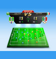 soccer tournament broadcast composition vector image vector image