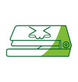 stapler cute cartoon vector image