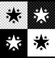 star icon isolated on black white and transparent vector image vector image