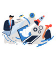 startup team successful completion project vector image