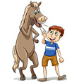 Straight from the horse mouth vector image vector image