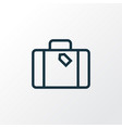 suitcase outline symbol premium quality isolated vector image vector image