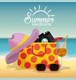summer holidays beach scene vector image