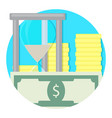 time and money icon vector image vector image