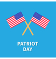Two flags Patriot day Card Flat design vector image vector image