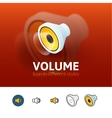 Volume icon in different style vector image vector image