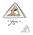 woman yoga poses in triangle sketch vector image