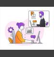 working online concept vector image