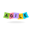 Agile word logo Agile letters with overlay color vector image