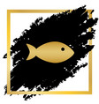 fish sign golden icon at vector image