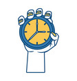 hand with pocket clock vector image