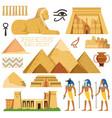 pyramid of egypt history landmarks cultural vector image