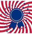 American flag style badge vector image