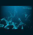 abstract illuminated particles and lines plexus vector image vector image
