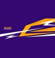 abstract sports style banner in purple and yellow