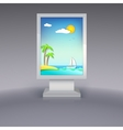 advertising stand with summer vacation vector image