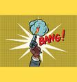 bang starting gun vector image vector image