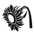 beautiful sunflower icon simple style vector image