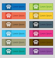 Bus icon sign Set of twelve rectangular colorful vector image