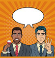 business team pop part cartoon vector image
