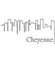 cheyenne city one line drawing vector image vector image