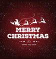 christmas card with snowy background and dark vector image